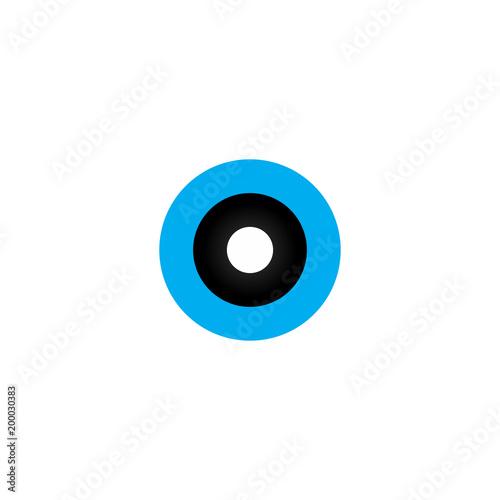Keuken foto achterwand Uilen cartoon eye of owl logo vector