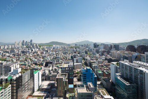 Fotobehang Seoel Cityscape of Yeoksam-dong, Gangnam-gu, Seoul, Republic of Korea