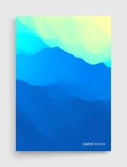 Cover design template. Mountain landscape. Mountainous terrain. Vector illustration. Abstract background. © Login