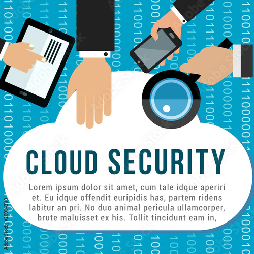 Cloud security poster for data storage design