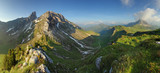 Mountain nature panorama in Dolomites Alps, Italy.