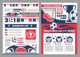 Soccer sport stadium poster of football sport game - 200045911