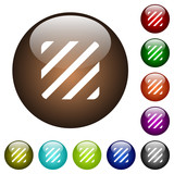Texture color glass buttons