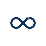 Infinity Arrow Logo Icon Design - 200047191