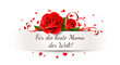 Muttertag - Papier Banner Schlitz mit Rose, Herz Konfetti und Herz band