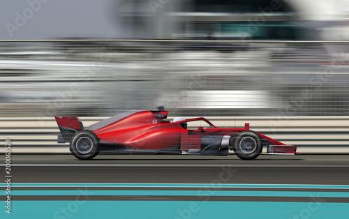 Samochód wyścigowy F1 na torze wyścigowym