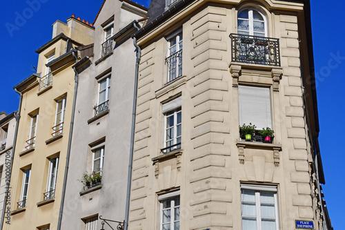Saint Germain en Laye; France - august 7 2016 : picturesque city in summer