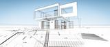Esquisse d'une maison modene d'architecte - 200066180