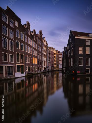 Fotobehang Amsterdam Red district