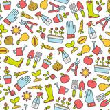 seamless pattern with gardening design elements - 200076342