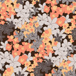 Seamless Vector Small Scale Flower Pattern - 200084773