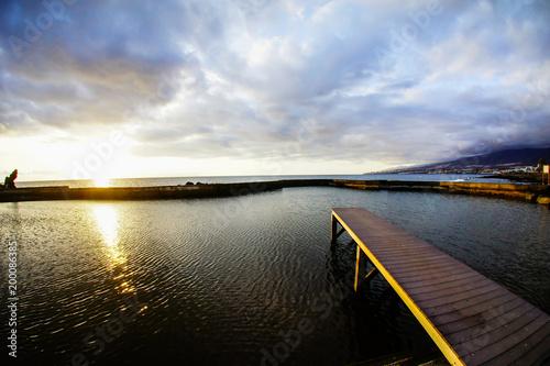 Keuken foto achterwand Ochtendgloren Sunrise Pier
