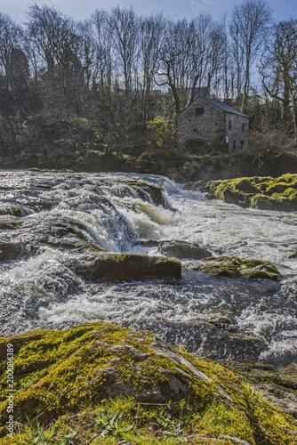 The Cenarth Falls, River Teify, Wales, UK - 200086389