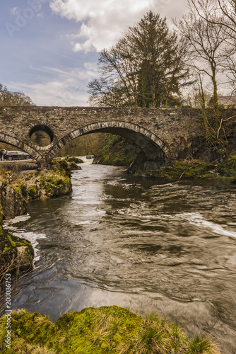 Foto Murales The Bridge over the River Teify, Cenarth, Wales, UK