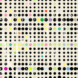 Seamless dots pattern background. Vector art with grungy texture, background or fabric printing pattern.