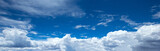 Panorama of blue sky with white clouds