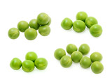Green peas set isolated on the white background - 200096162
