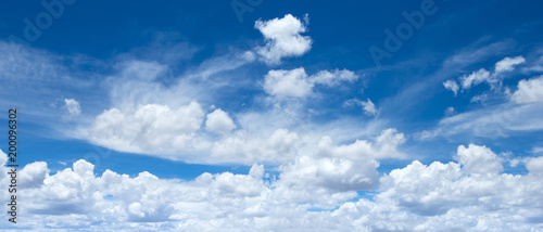 Foto op Plexiglas Panoramafoto s Panorama of blue sky with white clouds