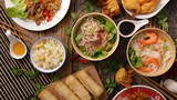selection of asian food