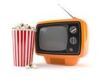 Retro TV with popcorn - 200100161