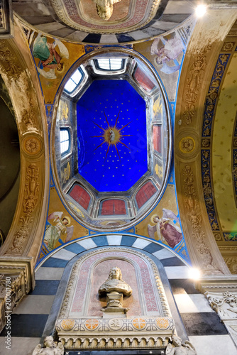 In de dag Liguria Santa Maria di Castello, Genoa Italy