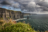 Cliffs of Moher, County Clare, Ireland. Irelands 2nd most famous tourism attraction. Beautiful scenic Irish nature countryside along the wild atlantic way