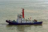 Tug boat in the harbor.