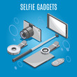 Isometric Selfie Gadgets Background