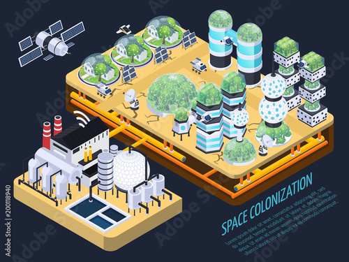 Isometric Space Colonization Concept