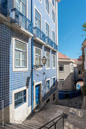 Traditional buildings in the Alfama District in Lisbon, Portugal - 200125399