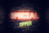 Special offer neon sign