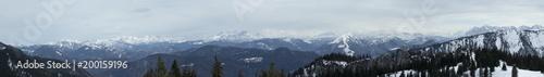 Fotobehang Panoramafoto s panorama Kampenwand, Bavaria