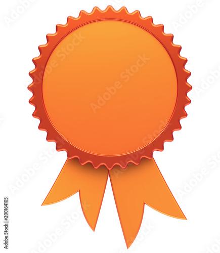 Award ribbon blank golden reward medal rosette best badge winner award ribbon blank golden reward medal rosette best badge winner template design element empty maxwellsz