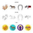 Race, track, horse, animal .Hippodrome and horse set collection icons in cartoon,outline,flat style vector symbol stock illustration web.
