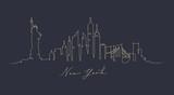 Pen line silhouette new york dark blue - 200168988