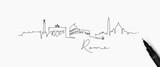 Pen line silhouette rome - 200169923