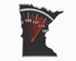 Minnesota MN Speedometer Map Fast Speed Competition Race 3d Illustration