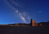 The Milky Way and Temple of the Sun, Cathedral Valley
