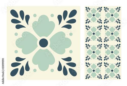 vintage tiles patterns antique seamless design in Vector illustration - 200190114