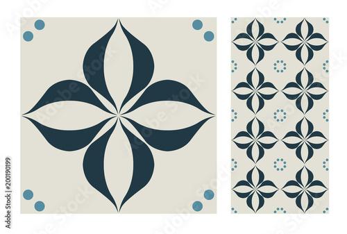 vintage tiles patterns antique seamless design in Vector illustration - 200190199