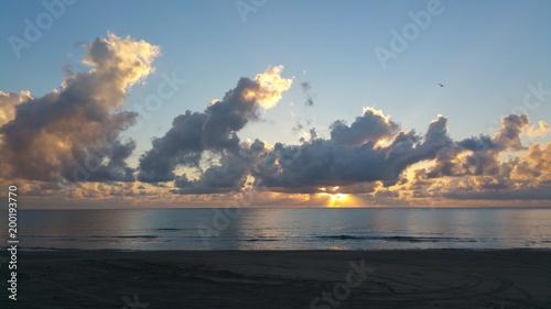 In de dag Ochtendgloren Beach Sunrise