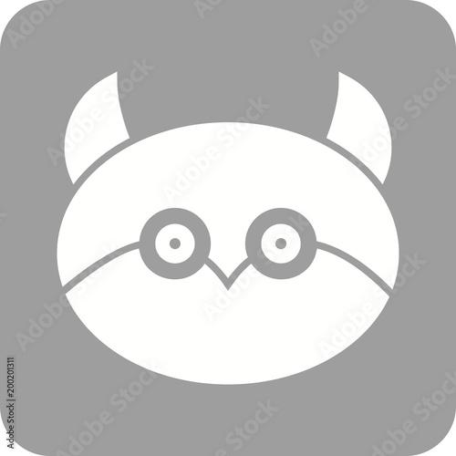 Foto op Plexiglas Uilen cartoon Owl face Icon
