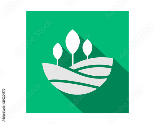 rectangle nature field harvest agriculture farmer image vector logo symbol icon