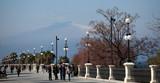 Lungomare Reggio Calabria con monte Etna