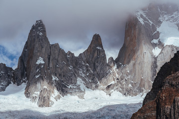 Fitz Roy patagonia clouds