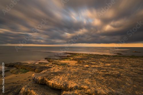 Fotobehang Zee zonsondergang Alba mediterranea
