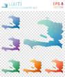 Постер, плакат: Haiti geometric polygonal maps mosaic style country collection Likable low poly style modern design Haiti polygonal maps for infographics or presentation