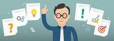 Businessman Checklist Planning Concept