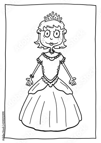 Ausmalbild Prinzessin - 200212991
