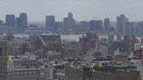 Manhattan Midtown Skyline, New Jersey in background, pan right, Extreme Long Shot - 200222159